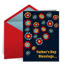 Father's Day Flowers card image