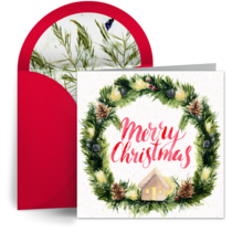 Christmas Wreath card image