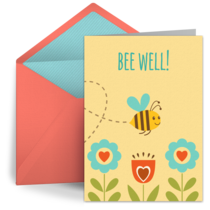 Get Well Bee card image