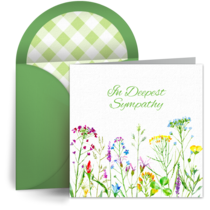 Sympathy Flowers card image