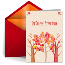 Sympathy Peach Tree card image