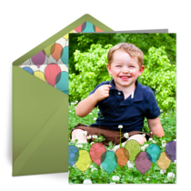 Kids Birthday Balloons Photo card image