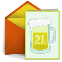 21st Birthday Beer card image