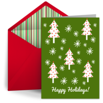Holiday Snowflakes card image