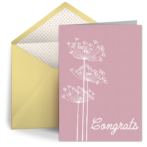 Dandelion Wedding Congrats card image