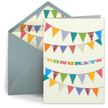 Baby Congrats Banner card image