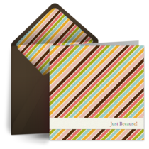Just Because Colored Stripes card image