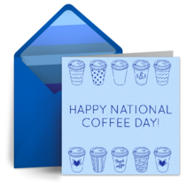 Coffee Cup Drawing card image
