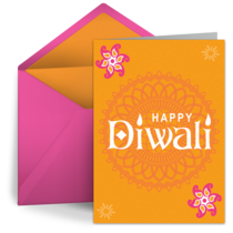 Colorful Diya card image