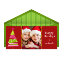Cut Out Christmas Tree  card image