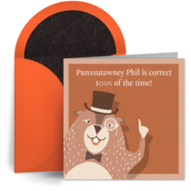 Fun Groundhog Day Fact card image