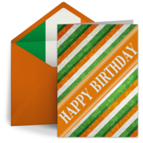 St. Patrick's Day Birthday card image