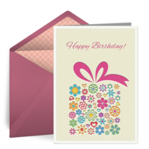 Floral Birthday Present card image