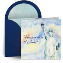 July 4th Statue of Liberty card image