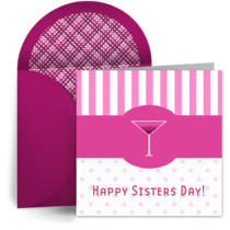 Sisters Day Martini card image