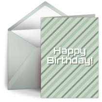 Mellow Birthday Stripes card image
