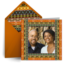 Tribal Pattern Photo card image