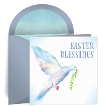 Easter Dove card image