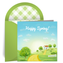 Sunny Spring Day card image