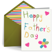 Father's Day Flower card image