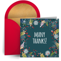 Thank You Snow card image