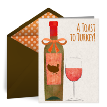A Toast to Turkey card image