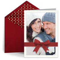 Red Holiday Bow card image