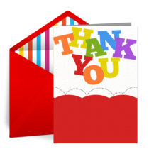 Bounce Thank You card image