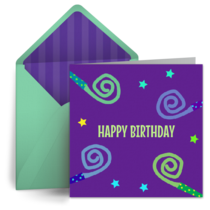 Birthday Noise Maker card image