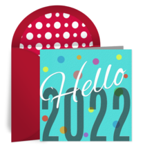 Hello 2020 Dots card image