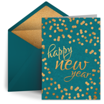 Holiday New Year Dots card image