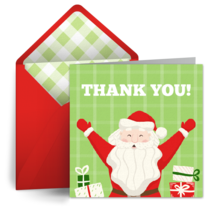 Santa Claus Thank You card image