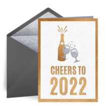 Cheers to 2020 New Year card image