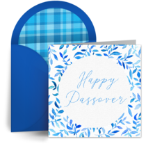 Passover Floral card image