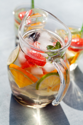 peach riesling white sangria drink recipe