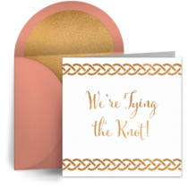 Engagement Tying the Knot card image