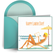Labor Day Beach Chair card image