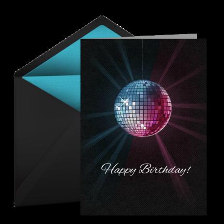 Birthday Disco Ball Free Birthday Card For Her Happy