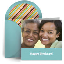 Birthday Family Photo card image
