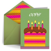 Belated Birthday Cards Free ECards Greeting