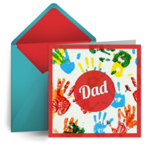 Finger Painting for Dad card image