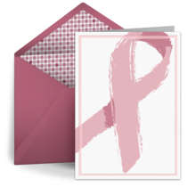 Painted Pink Ribbon card image