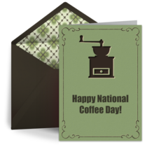 Free coffee day card coffee day ecard greeting cards coffee coffee grinder m4hsunfo