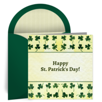 St. Patrick's Day Clover card image