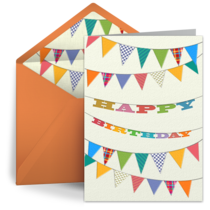 Birthday Banner card image