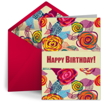 Bold Flowers card image
