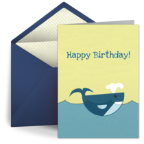 Happy Birthday Whale card image