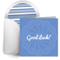 Good Luck Flourish card image