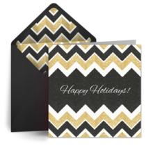 Holiday Chevrons card image