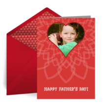 Father's Day Heart card image